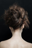 Woman with fashion updo hairstyle Royalty Free Stock Photo