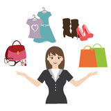 Woman fashion vector. Vector of woman with various aspect of fashion Royalty Free Illustration