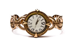 Woman fashion wrist watch Royalty Free Stock Photography