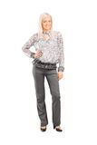 Woman in fashionable clothes Stock Images