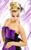 Woman in fashionable dress Royalty Free Stock Photos
