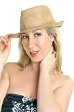 Woman with fashionable hat Royalty Free Stock Photo
