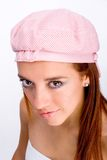 Woman with fashionable hat Stock Photo