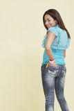 Woman in fashionable jeans Stock Image