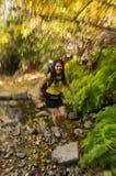 Woman Fast Hiker Stock Photo