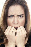 Woman fear Royalty Free Stock Photography