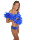 Woman with feather boa Stock Photography
