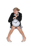 Woman fed up with waiting Stock Photo