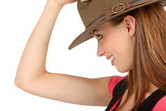 Woman with a fedora Stock Photography