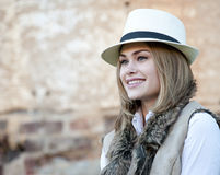 Woman in a Fedora Royalty Free Stock Photography