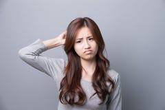 A Woman feel headache Stock Photos
