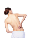 Woman feel pain in back and waist Stock Image