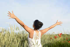Woman feeling free Stock Photo