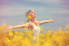 Woman feeling freedom Royalty Free Stock Photography