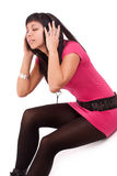 Woman feeling the music Royalty Free Stock Photography
