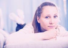 Woman feeling sad Stock Photos