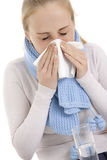 Woman feeling sick. Royalty Free Stock Images