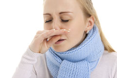 Woman feeling sick. Royalty Free Stock Photo