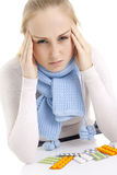 Woman feeling sick. Stock Photo