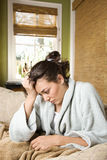Woman Feeling Sick Royalty Free Stock Image
