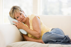 Woman Feeling Unwell Royalty Free Stock Photos