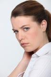 Woman feeling upset stock photos