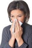 Woman feels sick Stock Photo