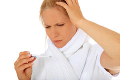 Woman feels unwell Stock Image