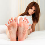 Woman feet Stock Photography