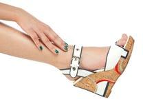 Woman feet Stock Photography