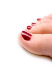 Woman feet Stock Images