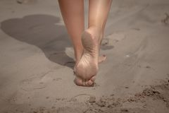 Woman feet royalty free stock images