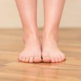 Woman feet closeup Stock Photos