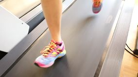 Close up feet runnig stock footage