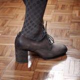 Woman feet in high heels Stock Image