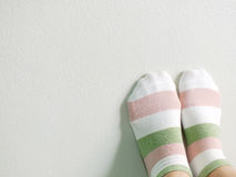 Woman feet relaxing and comfort holiday background Stock Photos
