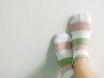 Woman feet relaxing and comfort Royalty Free Stock Photos