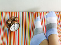 Woman feet relaxing and comfort holiday concept Stock Photography