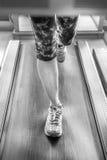 Woman feet runnig Stock Photo