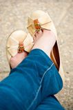 Woman feet and shoes Stock Photo