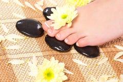 Woman feet taking over spa treatment Royalty Free Stock Photos