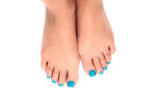 Woman feets and colors Stock Images