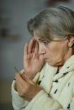 Woman fell ill Royalty Free Stock Photo
