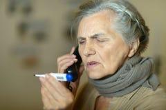 Woman fells ill Royalty Free Stock Photo
