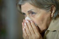 Woman fells ill Royalty Free Stock Image