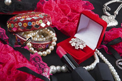 Woman and female Accessories Royalty Free Stock Photography