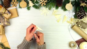 Merry Christmas Eve and Happy New Year concept stock footage