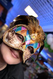 The woman on festival. In the mask Stock Images
