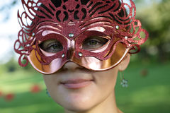 Woman on festival Royalty Free Stock Photography