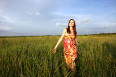 Woman in field Stock Photography